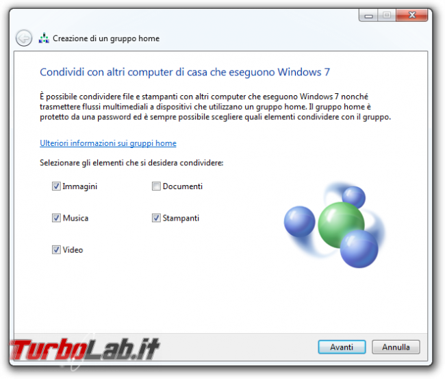 storia Windows, anno 2009: Windows 7 - windows 7 gruppo home