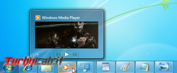 storia Windows, anno 2009: Windows 7 - windows 7 windows media player taskbar preview