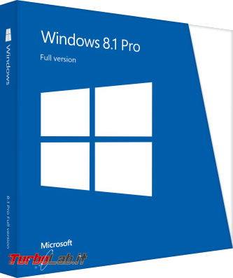 storia Windows, anno 2013: Windows 8.1 - windows 8.1 pro box