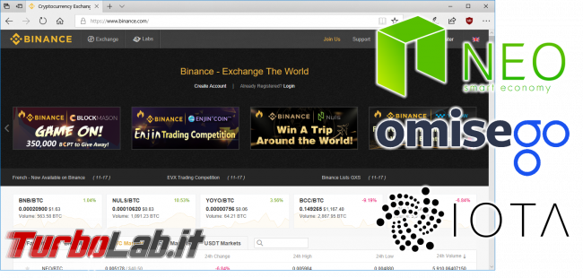 "Strategia guadagnare criptovalute Binance: video guida ordini limite ""dip buy"" Bitcoin Ethereum - binance spotlight"