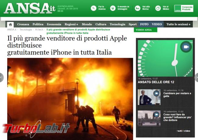Svendita iPhone dopo incendio magazzino rivenditore: truffa/bufala fiocchi - FrShot_1569483384