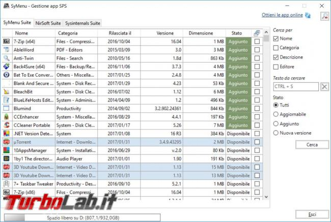 Symenu crea menu portable avviare programmi pendrive non solo quelli