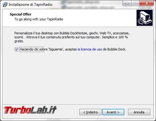 TapinRadio ti porta musica web radio direttamente computer