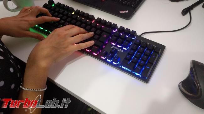 tastiera quasi-meccanica RGB gaming 28 €: recensione Reccazr HS760 (video) - IMG_20190113_175442