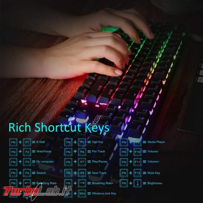 tastiera quasi-meccanica RGB gaming 28 €: recensione Reccazr HS760 (video) - Reccazr HS760 (1)
