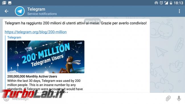 Telegram: come bloccare gruppi spam impedire mi aggiungano automaticamente - Screenshot_20180815-181318