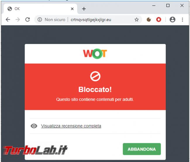 Test: estensioni sicurezza browser web messe prova TurboLab.it