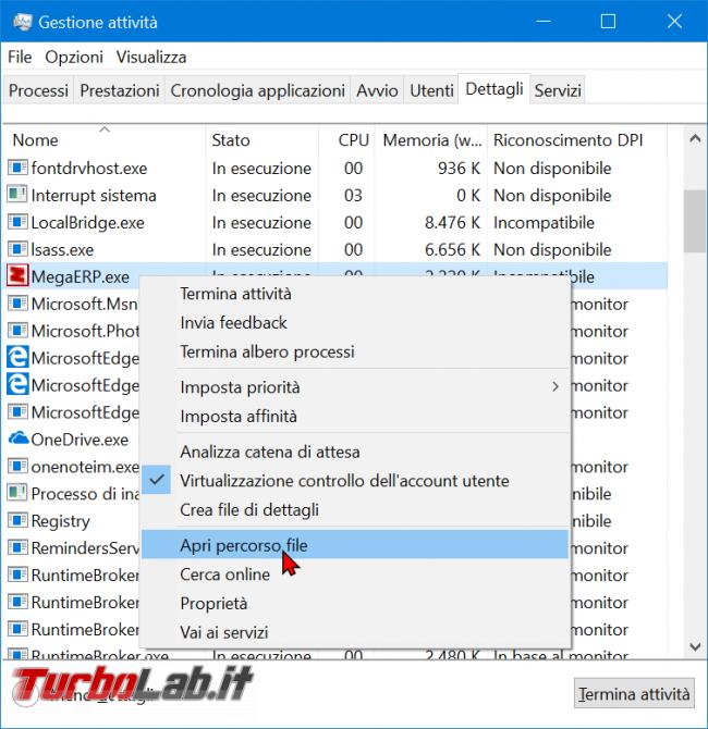 Testo sfocato: come visualizzare / scoprire se app supporta modalità alti DPI Windows 10 - zShotVM_1554999734