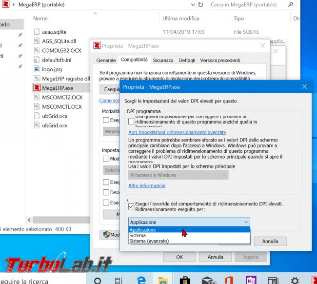 Testo sfocato: come visualizzare / scoprire se app supporta modalità alti DPI Windows 10 - zShotVM_1555000308