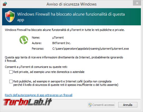 """TLI risponde: cosa significa """"Windows Firewall ha bloccato alcune funzionalità questa app""""? - Avviso di sicurezza Windows_1"""