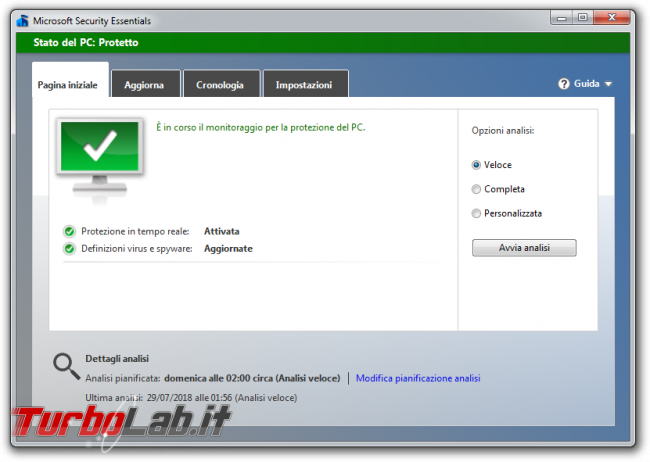 TLI risponde: devo veramente installare antivirus PC Windows 10 oppure basta Windows Defender? - microsoft security essentials in in windows 7