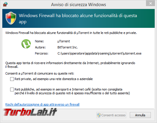 TLI risponde: devo veramente installare firewall PC oppure basta Windows Firewall? - Avviso di sicurezza Windows_1