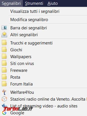tocco colore cartelle preferiti Firefox