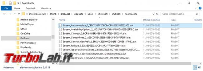 Trasferire l'autocompletamento indirizzi posta Outlook nuova configurazione