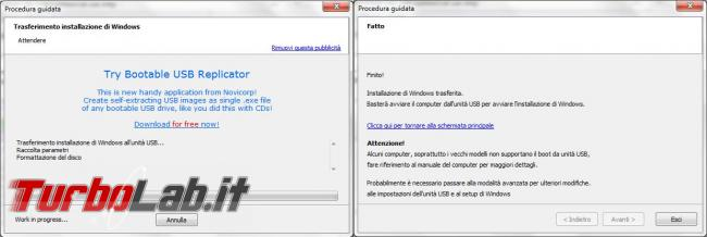 Trasferisci supporto d'installazione Windows disco, pendrive, USB WinToFlash