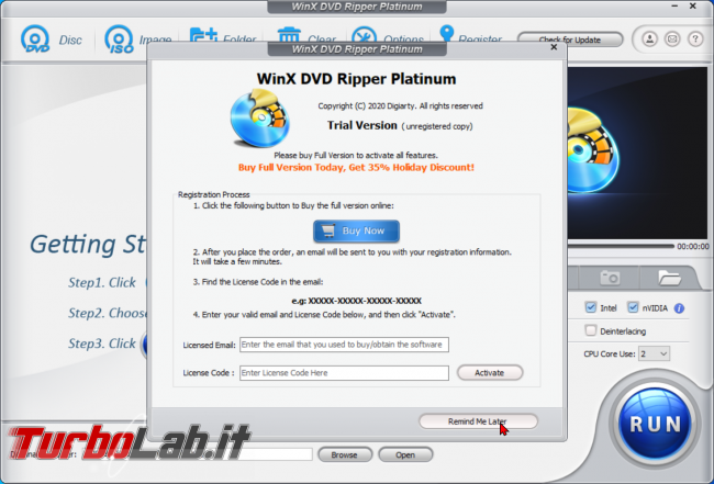 Trasformare film DVD file MP4 PC, smartphone, tablet: guida rip WinX DVD Ripper (conversione DVD MP4, H.264, AAC) - zShotVM_1589833524