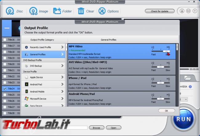 Trasformare film DVD file MP4 PC, smartphone, tablet: guida rip WinX DVD Ripper (conversione DVD MP4, H.264, AAC) - zShotVM_1589868565