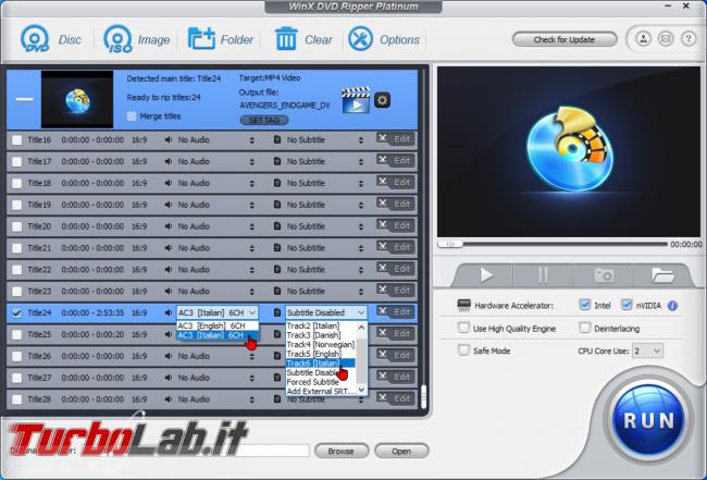 Trasformare film DVD file MP4 PC, smartphone, tablet: guida rip WinX DVD Ripper (conversione DVD MP4, H.264, AAC) - zShotVM_1589868662