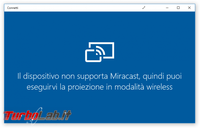 Trasformare PC Windows 10 ricevitore Miracast (Wireless Display) proiettare smartphone notebook monitor, senza fili - windows 10 connetti miracast