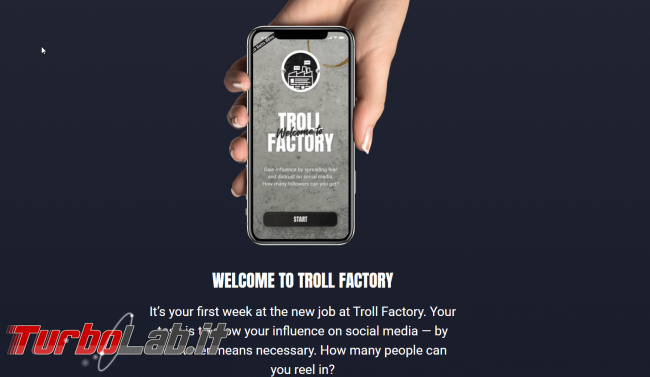 Troll Factory: browser game contro bufale disinformazione - FrShot_1570811183