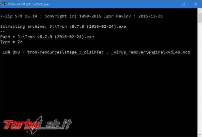 Tron script comandi pulizia manutenzione sistema operativo