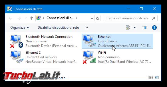 Trovare nome, indirizzo IP MAC address computer Windows - connessioni di rete
