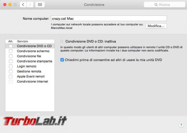 Trovare nome l'indirizzo IP Mac OS X