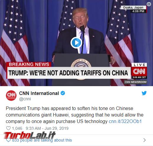 Trump ha cambiato idea: aziende USA possono vendere Huawei - Annotazione 2019-06-30 072735
