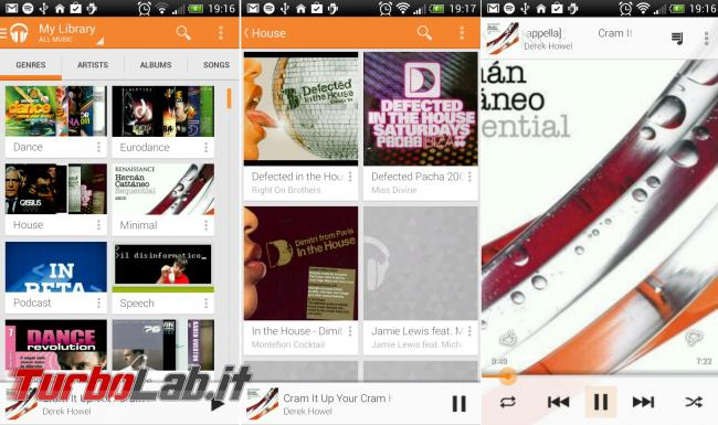 TurboLab.it Android Essentials: 25+ App indispensabili smartphone tablet - google play music