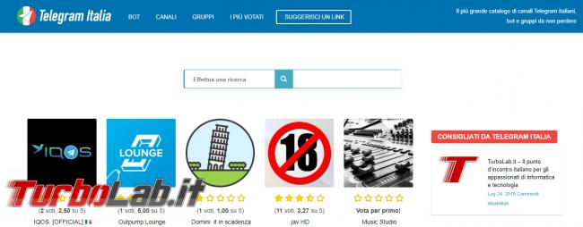 TurboLab.it è consigliato Telegram Italia - Annotazione 2019-08-12 154211
