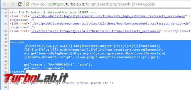 TurboLab.it phpBB Essentials: 10+ migliori estensioni phpBB 3.2 ogni community dovrebbe avere - google analytics javascript codice