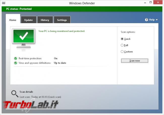 TurboLab.it Windows Essentials: 10+ programmi indispensabili installare dopo formattazione - widows defender.jpg