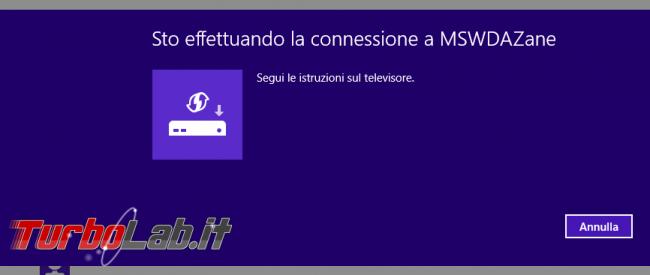 TV come schermo HDMI wireless: guida Miracast PC Windows