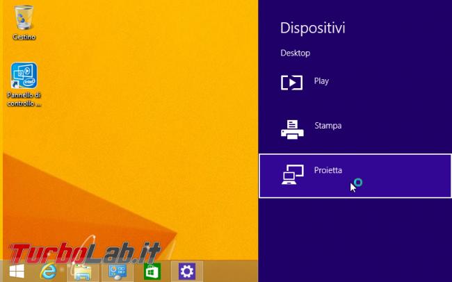 TV come schermo HDMI wireless: guida Miracast PC Windows - windows charm dispositivi device