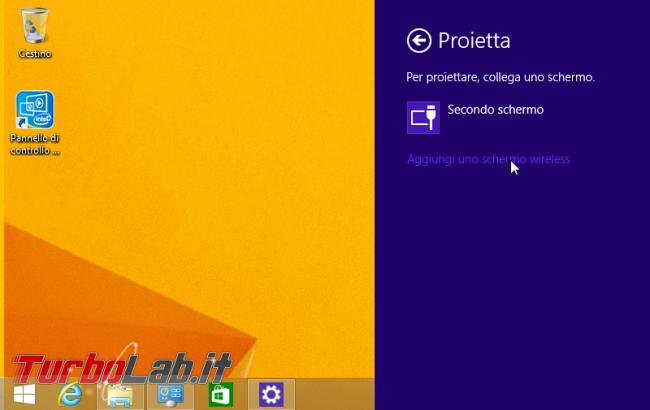 TV come schermo HDMI wireless: guida Miracast PC Windows - windows charm dispositivi device proietta