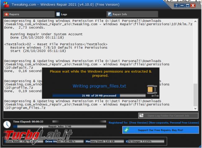 Tweaking.com Windows Repair, software ripara problemi Windows