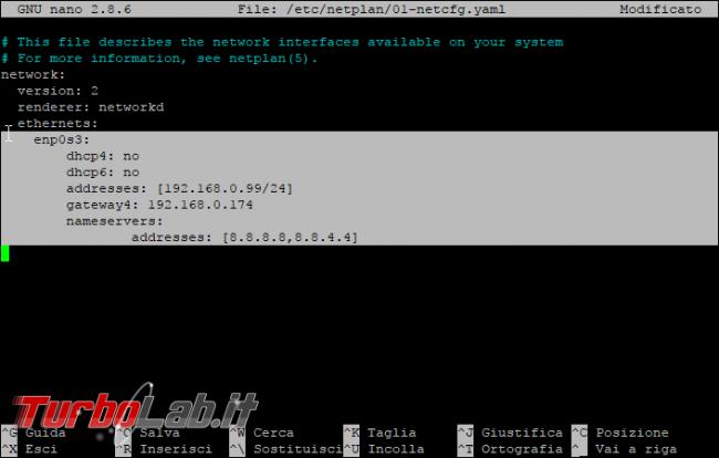 Ubuntu Server 17.10, IP statico: guida impostare manualmente indirizzo rete ( quando /etc/network/interfaces non funziona)