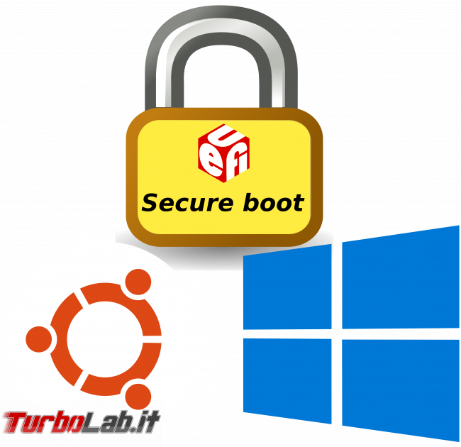 Ubuntu Windows dual boot uefi secure boot attivo