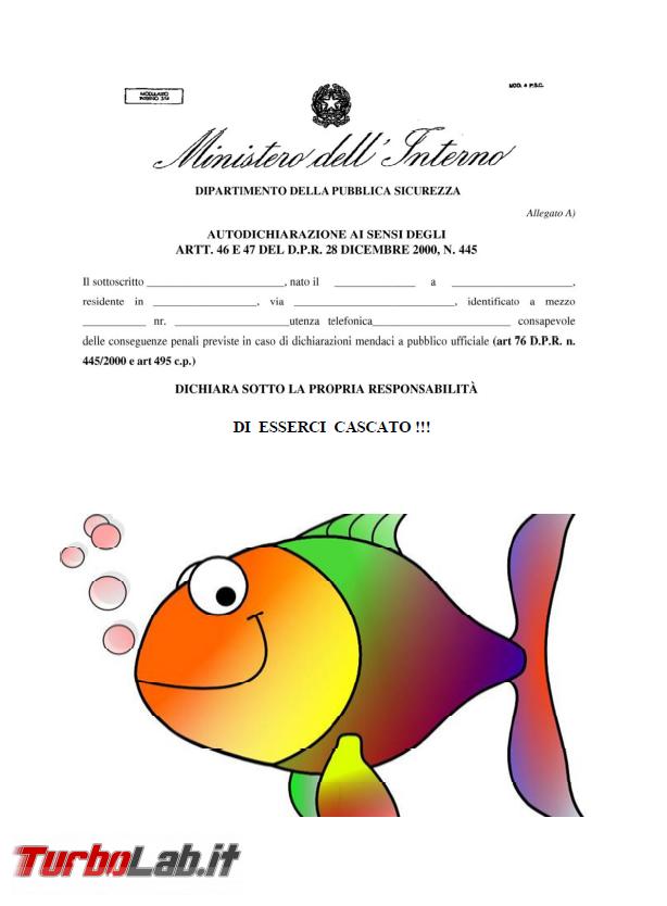 Ultima autodichiarazione: stavolta non è bufala, Pesce d'Aprile - FrShot_1585737701