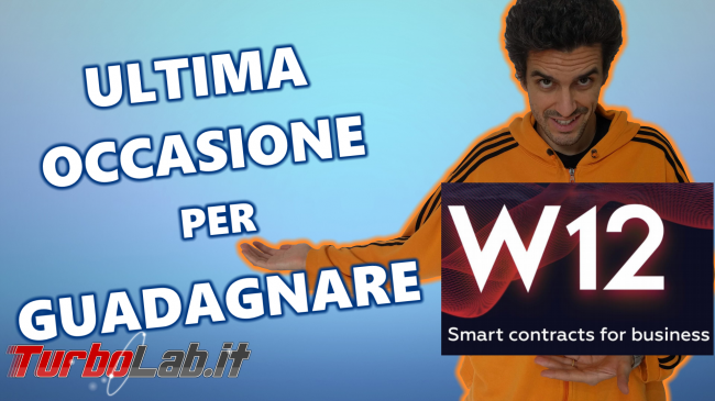 Ultimi giorni acquistare token W12, piattaforma Smart Contract ICO, STO crowdfunding (video)