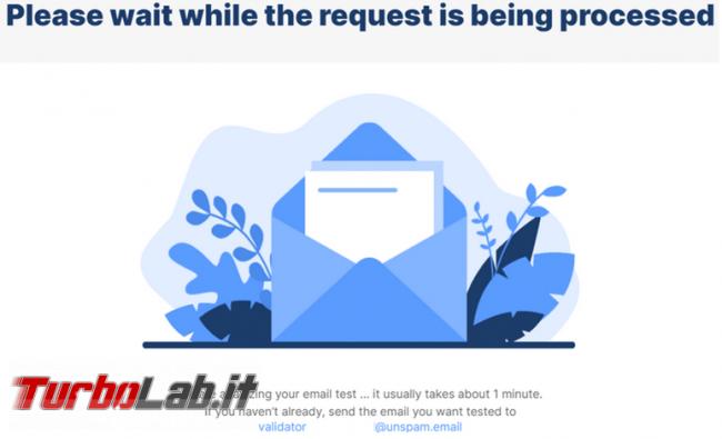 Unspam.email valuta se email potrà finire spam