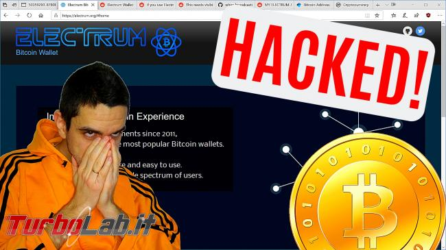 [Upd: truffa continua!] Wallet Electrum hackerato: rubati Bitcoin 1 milione dollari (video)
