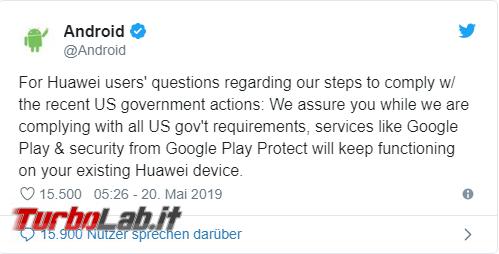 [Upd: video-spiegazione] Niente più Android Play Store smartphone Huawei? - Annotazione 2019-05-20 161001