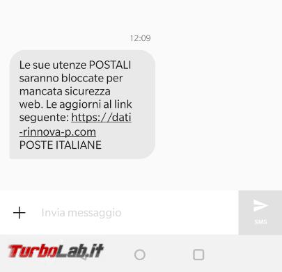 Utenze postali bloccate mancata sicurezza: SMS phishing si finge Poste Italiane - FrShot_1582377612
