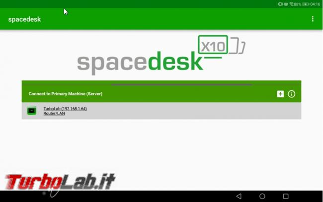 Utilizza tablet Android come secondo monitor computer Windows 10