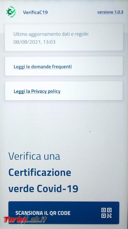VerificaC19 è l'app controlla validità green pass