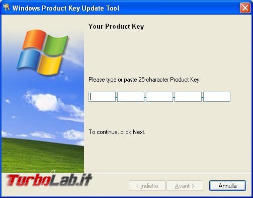Verificare attivazione Windows cambio numero licenza