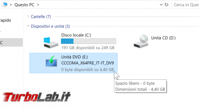 Video-guida: come aggiornare Windows 10 1903 (Aprile 2019) DVD, ISO USB (upgrade build offline, senza Internet Windows Update)