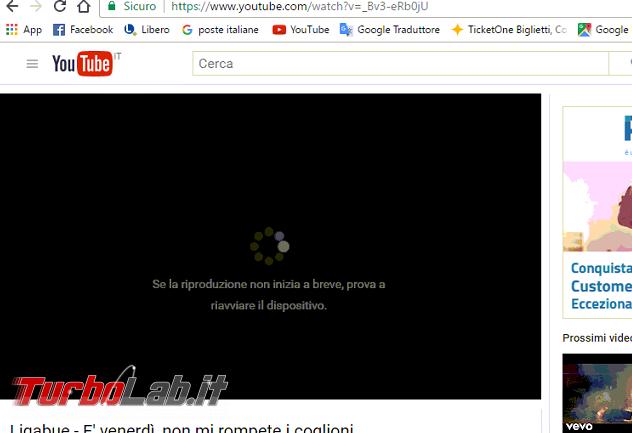 Video YouTube non partono Windows 10: come risolvere errore Se riproduzione non inizia breve, prova riavviare dispositivo