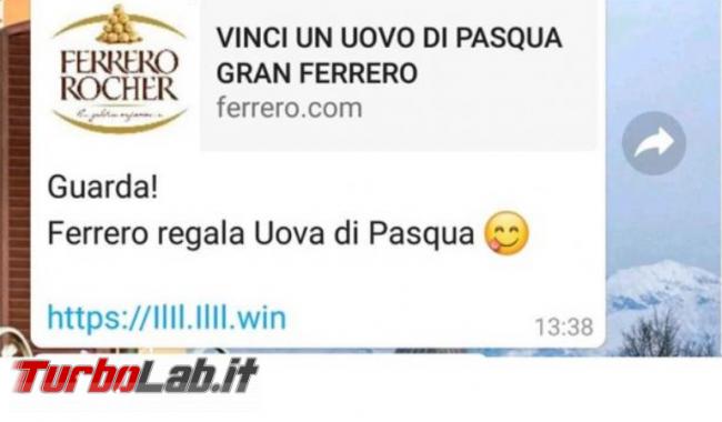 Vinci uovo Pasqua Gran Ferrero: è truffa! - FrShot_1586363483